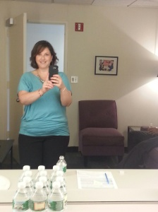 In the drssing room of the Dr. Oz Show!
